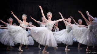 Artists of the Royal Ballet as Snowflakes.