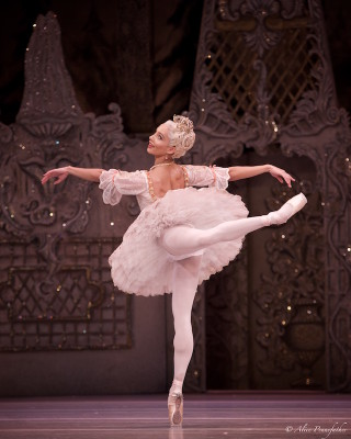 Francesca Hayward as the Sugar Plum Fairy.