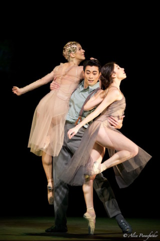 Ryoichi Hirano, Yasmine Naghdi and Mayara Magri in I Now, I Then