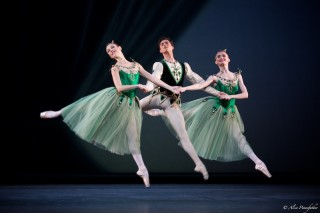 Anna Rose O'Sullivan, James Hay and Helen Crawford in Emeralds