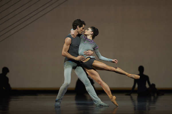 Carlo Di Lanno and Dores André in Thatcher's Ghost In The Machine. Photo: © Erik Tomasson