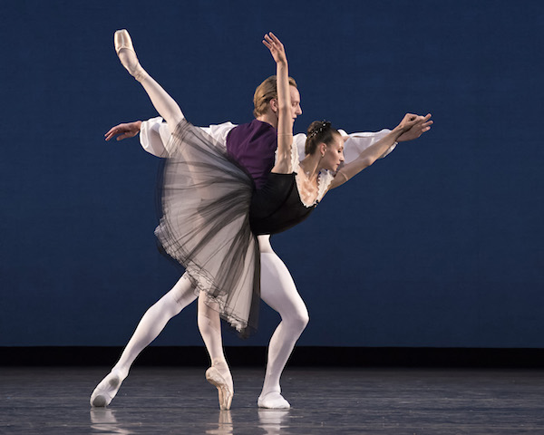 Christine Shevchenko and David Hallberg in Mozartiana