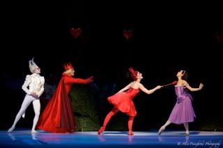 Akane Takada, Claire Calvert and James Hay in Alice's Adventures in Wonderland
