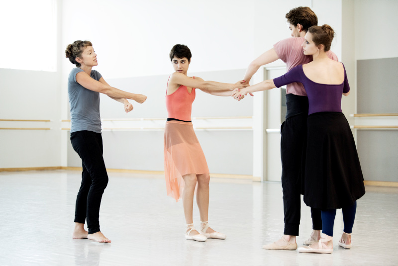 San Francisco Ballet rehearsing with Cathy Marston.