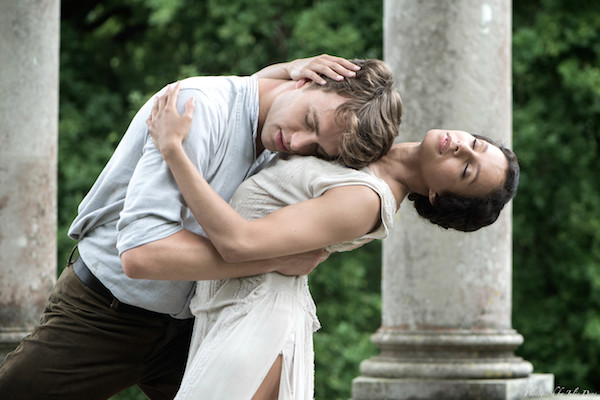Francesca Hayward and Matthew Ball in The Sun is God