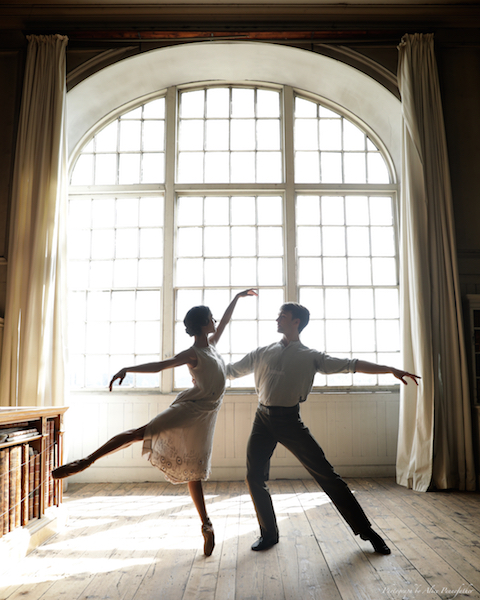 Francesca Hayward and Matthew Ball in The Sun is God.