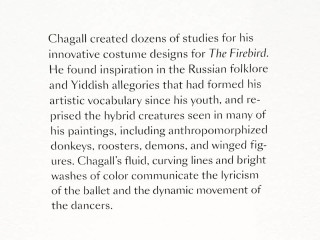 Chagall's costumes for ballet