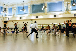 James Streeter and Artists of English National Ballet rehearse Robbins' The Cage.