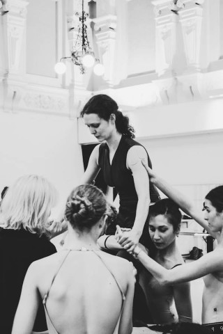 Jurgita Dronina and Artists of English National Ballet rehearse Robbins' The Cage.