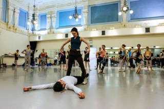 Jurgita Dronina and Artists of English National Ballet rehearse Robbins' The Cage.