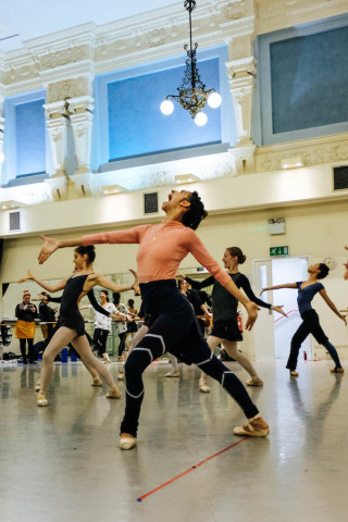 Begoña Cao and Artists of English National Ballet rehearse Robbins' The Cage.