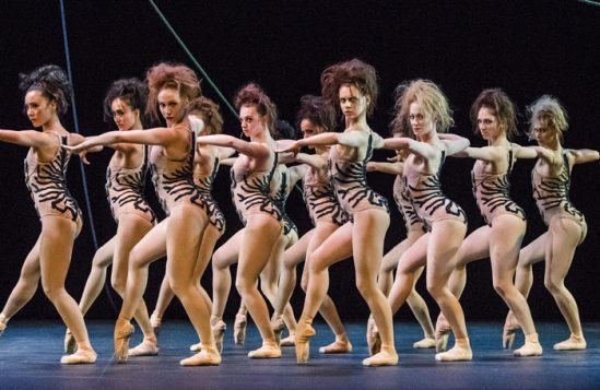 Artists of English National Ballet in The Cage