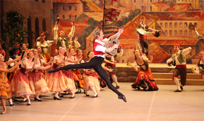Semyon Chudin as Basilio in Don Quixote.