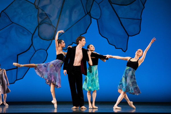 Mathilde Froustey, Sasha de Sola, Yuan Yuan Tan and Ulrik Birkkjaer in Alexei Ratmansky's Chamber Symphony.