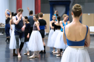 Artists of English National Ballet during Cinderella rehearsals
