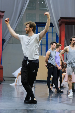 James Streeter during Cinderella Rehearsals.