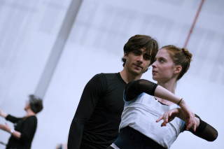 Emma Hawes and Francesco Gabriele Frola in rehearsal