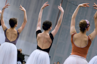 Artists of English National Ballet during Cinderella rehearsals.