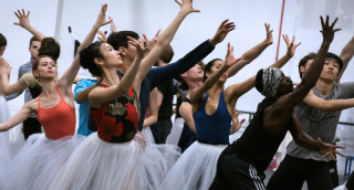 Artists of English National Ballet rehearse Cinderella