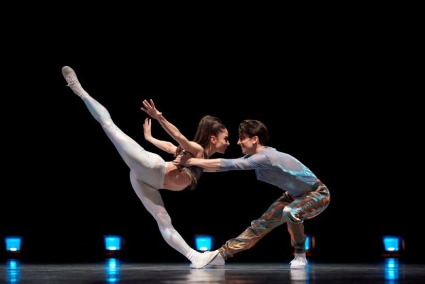 Dores Andre and Joseph Walsh in Justin Peck's Hurry Up, We're Dreaming.