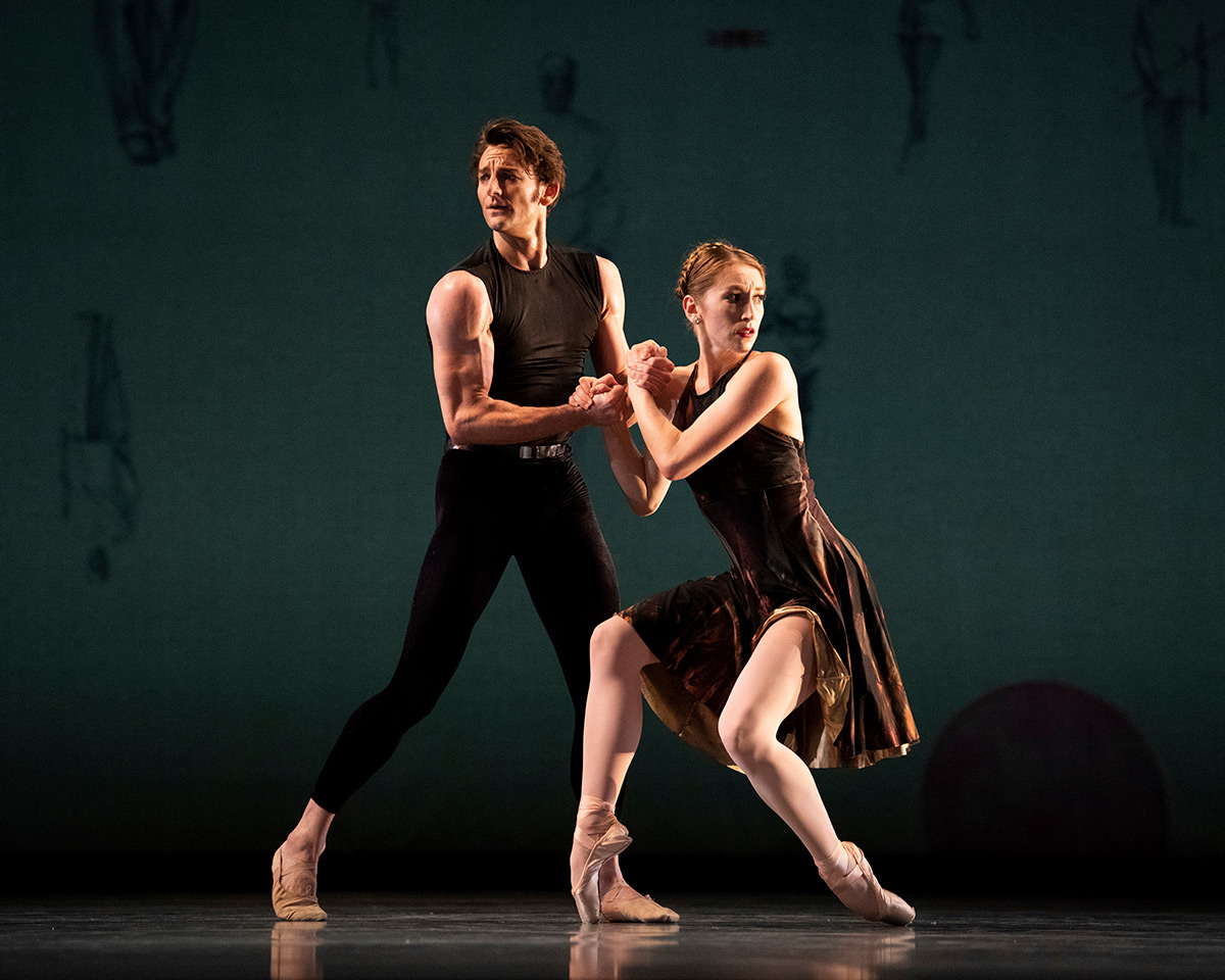 Jennifer Stahl and Aaron Robison in Ratmansky's Symphony #9.